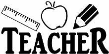 Zjxyz 3 Teilesatz Lehrer Herrscher Apple Bleistift