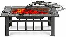 ZJY 37-Zoll-Metall-Feuerstelle, Patio-Holzofen mit