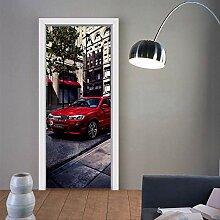 Zkamang Rote Auto-Tür-Aufkleber, kreative Haus