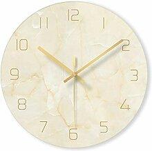 ZKHONG Glas Wanduhr Marmorform Stumm Uhr