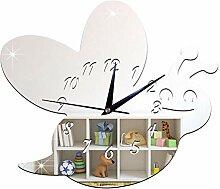 ZKHONG Mode Wanduhr Acryl Biene Stumm Uhr