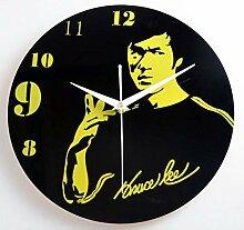 ZKHONG Vintage Wanduhr Acryl Bruce Lee Memorial
