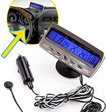 ZKKZ Wecker Nacht Licht Temperatur Auto LCD