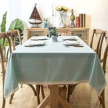Zklttca Einfache Einfarbige Tischdecke Fließende