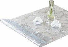 ZKOO Weiches Glas Tischdecke Silber Chrysantheme