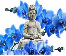 ZKYB Buddha Blume Bild 3D DIY Diamant Gestickter