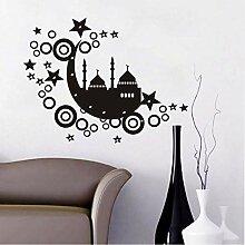 zlhcich Islamische Burg Aufkleber Mond Sterne