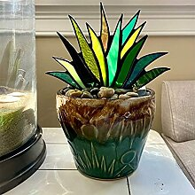 ZLJ Gebeizte Agave Pflanze Blumentopf Ornament