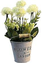 ZLJ Künstliche Hortensie Pflanze mit Eisen