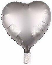ZLJTT 18 Zoll Metallic Star Herz Folienballon 12