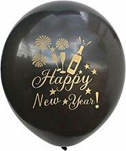 ZLJTT Frohes Neues Jahr Latex Heliumballon