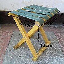 ZLL/ Erwachsenen Armeegrün Falten Stühle solide Holz Stühle/Bank/Angeln/Krankenpflege Hocker/Portable Bench/Holz Mazar