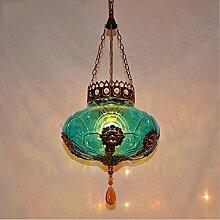 ZLL Europäischen Mittelmeer-Stil einzigen Kronleuchter, böhmischen Marokko Eingang Licht Korridor Lampe Lampe Lampe Kronleuchter , 60w