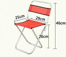 Zll/Falt Hocker/Kleines Bench Mazar/Angeln/Outdoor tragbare Metall Rückenlehne Stuhl Hocker/Ausflüge/improvisierten Hocker 2