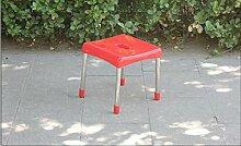 ZLL/ Gepolsterte Hocker Farbe Mode Kunststoff Hocker IKEA Tisch/Bank/Schuh Bank/Hocker , red