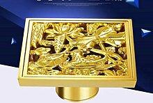 Zll Golden Dusche Kupfer Bodenablauf