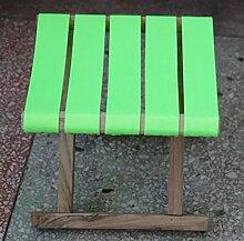 ZLL/ Selbstversorger Garten Holz Mazar/Angeln Hocker/Portable/klappbarer Hocker kleine Holzbank , fluorescent green