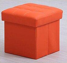 Zll/Storage Bench/Schuhregal Faltbarer Hocker/Bank/Aufbewahrungsbox/Das Bett Sofa/Bank/Hocker Pier orange