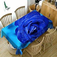 Zller2587 Blaue Rose Druck Tischdecke