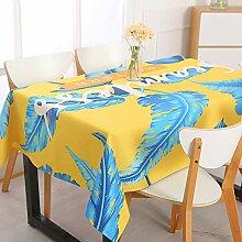 Zller2587 Rechteckige Tischdecke aus Wasser- und