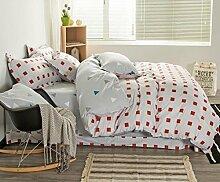 ZLQZZPP Cotton Einfache Und Elegantes Vier - Stück Baumwolle Städtische Bett Suite,3-SIZE2