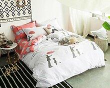 ZLQZZPP Cotton Einfache Und Elegantes Vier - Stück Baumwolle Städtische Bett Suite,9-SIZE1