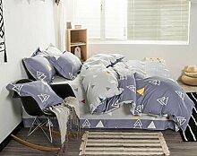 ZLQZZPP Cotton Einfache Und Elegantes Vier - Stück Baumwolle Städtische Bett Suite,5-SIZE1