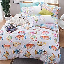 ZLQZZPP Heimtextilien Baumwolle Zu Hause Vier Sätze Die Nordic Wind Betten Suite,14-245*250