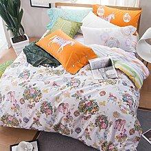 ZLQZZPP Heimtextilien Baumwolle Zu Hause Vier Sätze Die Nordic Wind Betten Suite,5-245*250