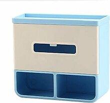 ZLR Moderne Mode Wand-Bad-Toiletten-Tissue-Box Pumping Hands-frei Perforierte Toilettenpapier Roll Papierrolle Wasserdicht Creative Regale ( Farbe : Blau )