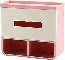 ZLR Moderne Mode Wand-Bad-Toiletten-Tissue-Box Pumping Hands-frei Perforierte Toilettenpapier Roll Papierrolle Wasserdicht Creative Regale ( Farbe : Pink )