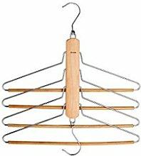 ZLR Zuhause Schlafzimmer multifunktionale Kleiderbügel Racks Massivholz Erwachsene Haken Indoor Magic Hanger ( Farbe : B*1 )