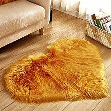 ZLRYY Teppich Großen Roten Plüsch Wolleimitat