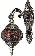 Zlshm Handgefertigte Wandlampe, Mosaiklampe,
