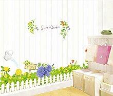 Zlxzlx Gras Zaun Setzen Kinder Zimmer Hintergrund