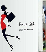Zlxzlx Pretty Girl Selbstklebende Abnehmbare
