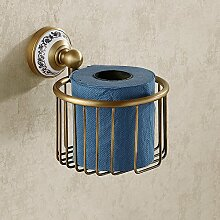 ZLYAYA& Bad Sanitär Papierfach, Küche Schlafzimmer Kupfer Roll Rack, Toilettenpapier-Rack, Bad-Accessoires, Regale, Hardware Anhänger Bronze