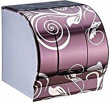 ZLYAYA& Edelstahl Bad lila Toilettenpapier Rack Küche, Schlafzimmer-Roll-Rack, Sanitär Papierfach, Bad-Accessoires, Regal 120mm