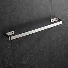 ZLYAYA--Punch Edelstahl Zeichnung Solid Single Pole dicker Handtuchhalter,einfache Art und Weise an der Wand montierten Bad Küche handtuchstangen,Regal hardware Anhänger