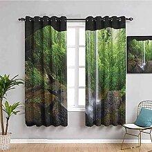 ZLYYH vorhänge Wohnzimmer Grün Pflanzen Wälder