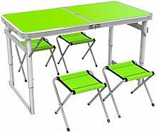ZLZDZ Klapptisch Portable Klapptisch Picknicktisch Klapptische und Stühle Klapp Esstisch Haushalt (Farbe : A)