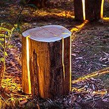ZMH Aussenleuchte aus Holz Standleuchte Standlampe