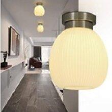 ZMH Deckenleuchte Deckenlampe Glas Weiße Flur E27