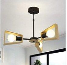 ZMH Deckenleuchte Holz rustikal Wohnzimmerlampe
