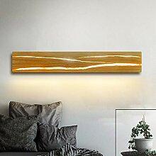 ZMH Holz Wandleuchte LED 8W Wandleuchte innen Holz