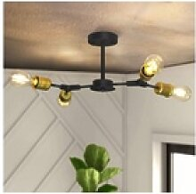 ZMH LED Deckenleuchte Wohnzimmerlampe Retro E27 4