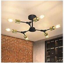 ZMH LED Deckenleuchte Wohnzimmerlampe Retro E27 6