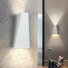 ZMH LED Modern Wandleuchte Innen 7W Weiß