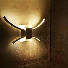 ZMH LED Wandleuchte Innen Wandlampe weiß
