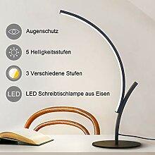 ZMH Moderne LED Schreibtischlampe aus Eisen,